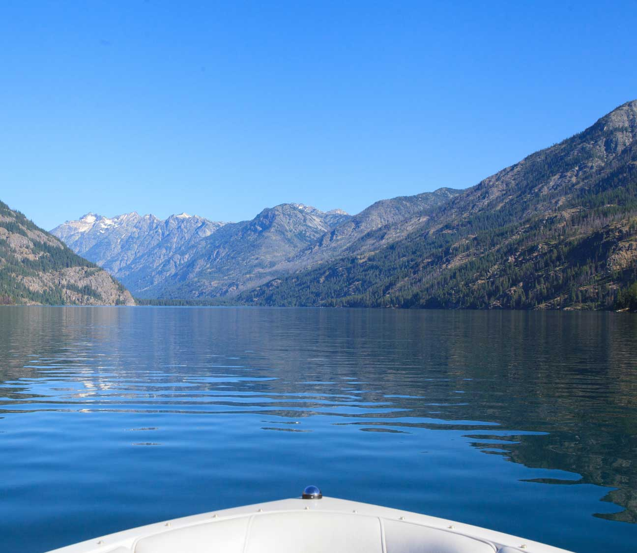 Lake Chelan from a boat